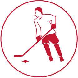 Illustration of a hockey player