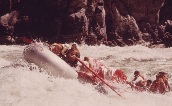 SHOOTING WILD SHEEP RAPIDS ON THE SNAKE RIVER IN HELLS CANYON1973