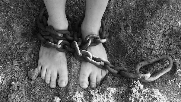 feet in chains