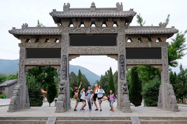 East Asia group w arches