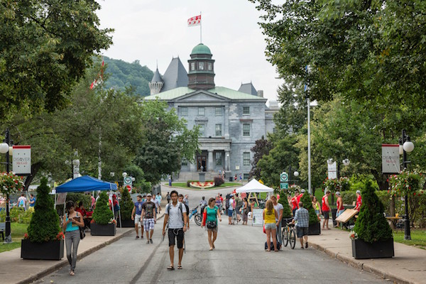 walking onto campus quebec by G TIng