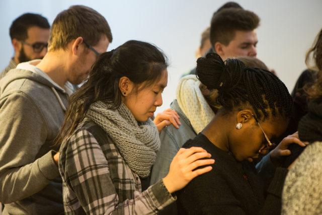 Group praying together