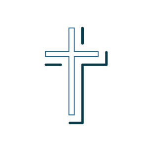 A graphic depicting a cross
