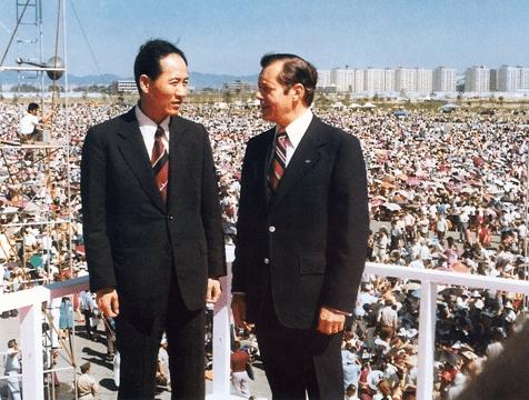 Dr. Joon Gon Kim and Bill Bright
