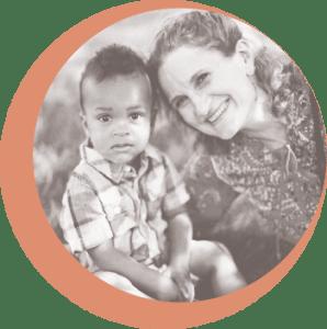 Dorrie Manu with her son Kweku