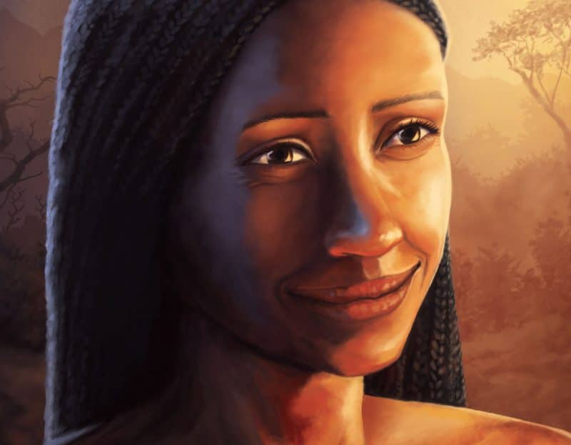 P2C Magazine Issue 2 - Illustration of Zenia smiling