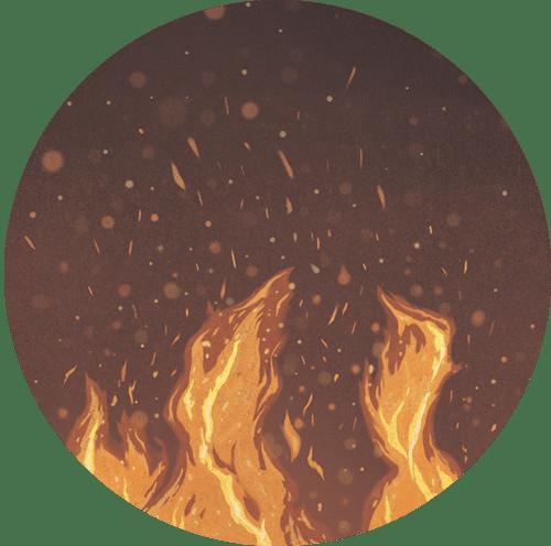 Illustration of flames