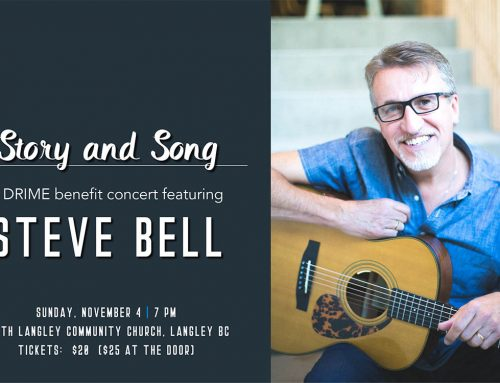 Story and Song: DRIME presents a benefit concert with Steve Bell