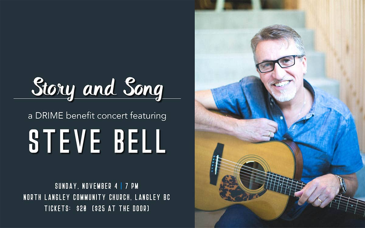 DRIME Benefit Concert with Steve Bell